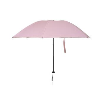 京東京のパラソル三つ折りパラソル晴雨兼用パラソルコーティング高効率日焼け止めUVカット日傘ピンク