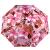パラソル全遮光(UPF 50+)黒ゴムプリント三折日傘晴雨兼用傘31844 Eベリーピンク
