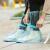 山頂洞人雨靴カバー男女通用防水雨天滑り止め靴カバー非使い捨て雨具厚い耐摩耗性レインブツセットCM 9006青いXL