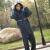 レインコートレインパンツスーツ成人男女分体形式ポンチアウトドアバイクライド防水レインコートロールアウトドア服XLレインパンツセット-青