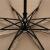 天国の傘のモカの人生の両面の色彩のゴムの日よけの三折の晴雨兼用傘3313 E薄い古銅