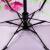 パラソル全遮光UPS 50+黒ジェル回転5折晴雨兼用傘31802 Eピンク