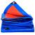 多美忆の厚手の彩色の条の布は雨防の屋根の布の帆布のPVC防水の雨幌の布の油布の屋根の貨車の日よけの雨を防ぐためにあふれて5メートル*6メートル