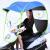 電気自転車の屋根の雨傘は雨を遮ります。雨を防ぐために黒いゴムが付いています。雨を防ぐために傘を遮ります。一般的なオートバイのスクーターは雨を防ぐために、雨を防ぐために、日傘の黒いゴム+帽子のひさし(青)はバックミラーがあります。