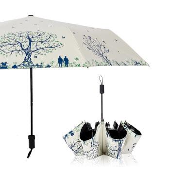 ins女性の傘は黒いゴムの日よけの傘は子供の日よけの傘の大きいサイズの折り畳み式の晴雨兼用の傘は紫外線の美少女の傘の木の下で恋人の白色を防ぎます。