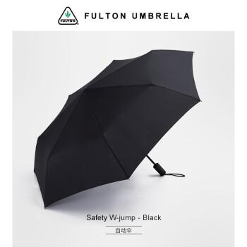 フルトンFUCTONイギリス輸入男女日傘三つ折り全自動折りたたみ傘耐風大サイズ補強サンバイザーペア晴雨兼用傘全自動黒
