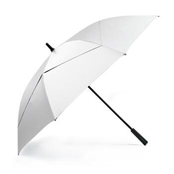 Umenice日よけ傘UPAF 50+日傘環境に優しいチタン銀の日よけ傘男の紫外線防止の大きな傘の柄のまっすぐな棒のゴルフ傘の専門の環境保護の銀のゴムの日よけの傘(外銀内の藍)
