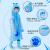 宮薫児童レインコート男女幼稚園児ポンチ子供生徒男児男児環境保護PVC加厚レインコートバッグ付き青いカバLサイズ