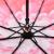 天堂傘(UPS 50+)二階建てフル遮光サージ黒ゴム三つ折り日傘晴雨兼用傘31820 E玫ピンク