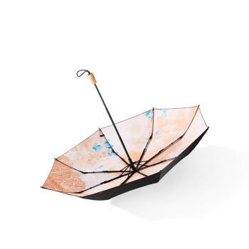 バナナの日傘紫外線対策傘二重日傘折りたたみ晴雨兼用パラソル暁風シリーズ50 cm*8骨絵夢