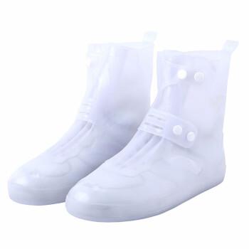 将軍男女の大人タイプは厚い雨靴カバー学生は徒歩で旅行します。雨止めの靴カバーは白い4 XL/44-45です。