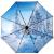 天堂の傘の黒いゴムのデジタルは55 cm*8骨の三つ折りの晴雨を転写して傘の銀の服を兼用して31842 E花の内を包みます
