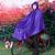 天堂成人自転車レンコート1人乗りポンチー男性/女性不透明学生延長N 118紫