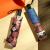 美度(MAYDU)日傘女性日焼け防止パラソル紫外線三つ折り晴雨兼用傘ブラックジェル折りたたみ傘M 3006イチゴジャム